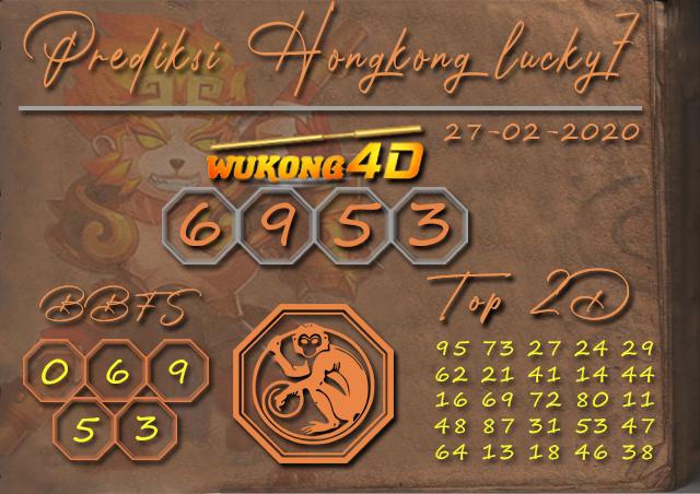 Prediksi Togel HONGKONG LUCKY 7 WUKONG4D 27 FEBRUARI 2020