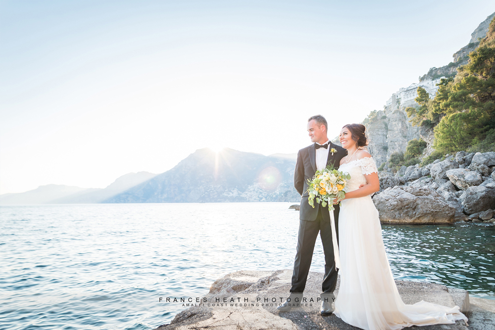 Sunset wedding in Praiano