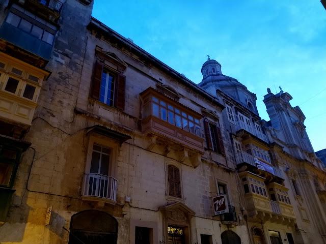 Blue hour in Valletta's  Merchants' Street - Sincerely Loree