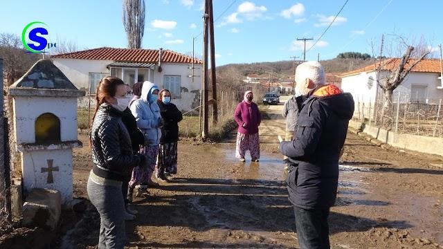 Συνεχίζεται με ικανοποιητικούς ρυθμούς η καταγραφή των ζημιών που προξένησε η πλημμύρα στα σπίτια του Μικρού Δερείου