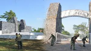 Jelang Hari Bakti TNI AU, Anggota TNI AU di Kalijati Bersihkan Lingkungan Di TMP Cidongkol
