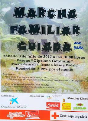 MARCHA FAMILIAR GUIADA CRUZ ROJA Monitor Colaborador: Gaba 8 de julio a las 10 horas