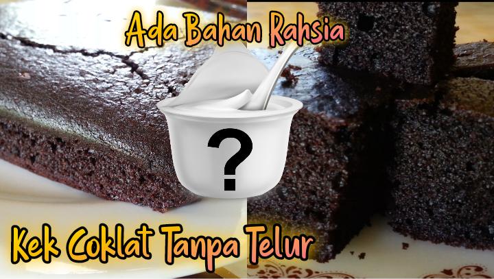 kek coklat moist tanpa telur