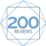 200 reviews badge