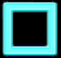 Moldura quadrada azul  - criação Blog PNG-Free