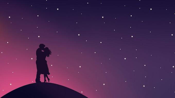 Casal Apaixonado Céu Estrelado