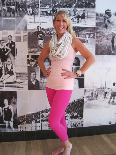 lululemon pig cool racerback tank with paris pink wunder under pants