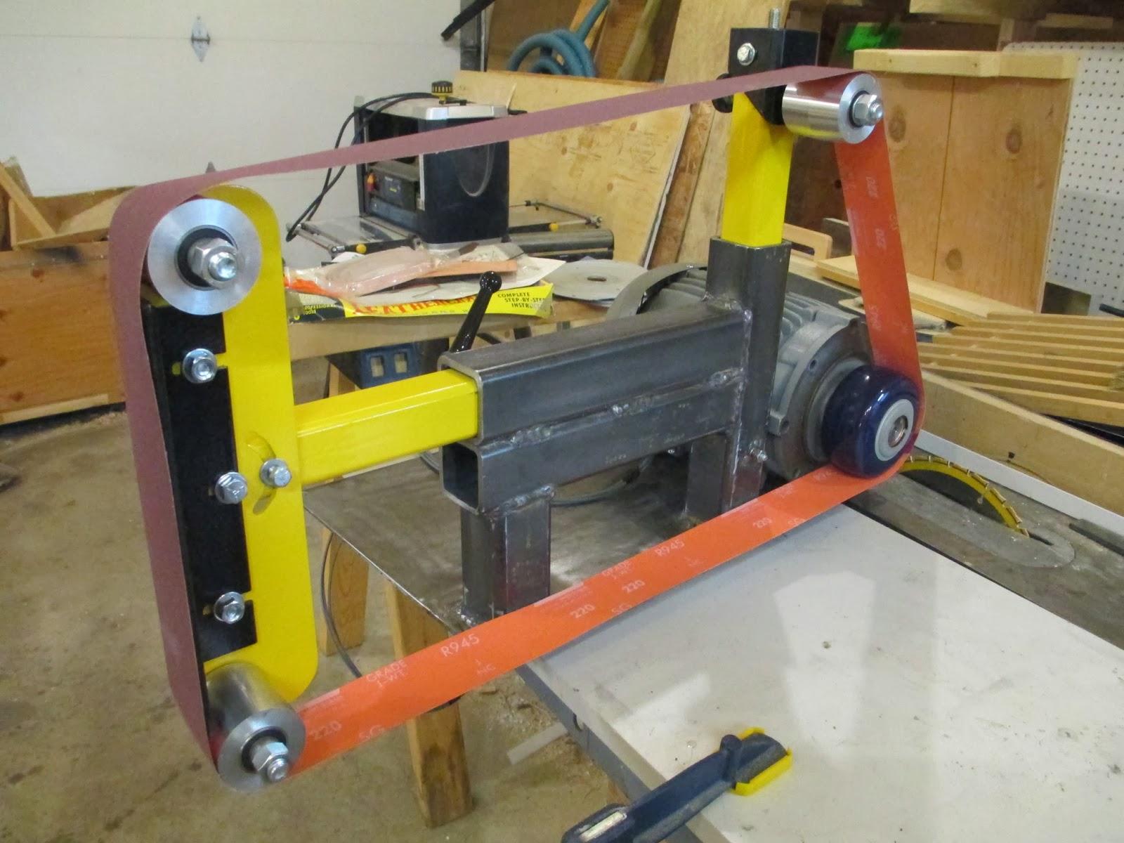 2 inch belt sander. before painting, i added a 1/4\ 2 inch belt sander