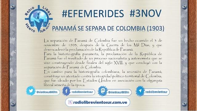 TAL DIA COMO HOY: PANAMÁ SE SEPARA DE COLOMBIA (1903) #3Nov