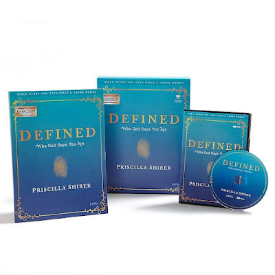 Who Am I Defined - Teen Girls' Bible Study Leader Kit in blue assortment collection with white background.