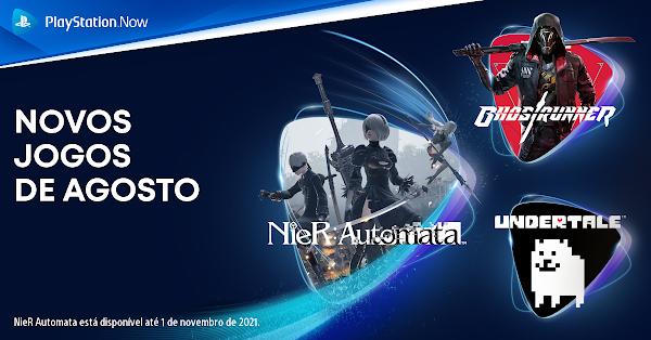 NieR: Automata™, Ghostrunner e Undertale chegam este mês ao catálogo do PlayStation™Now