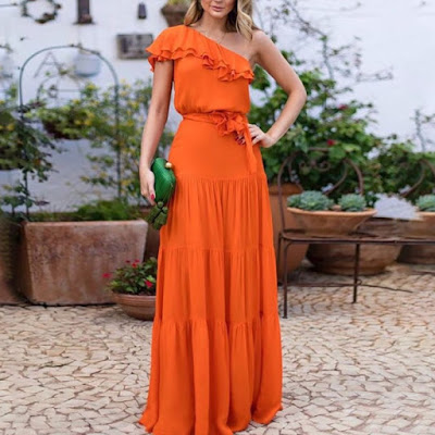 https://www.maxinina.com/item/elegant-sloping-shoulder-ruffled-belted-pure-colour-dress-678331.html?from=collections