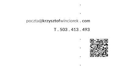 Wizytówki dla Krzysztof Winciorek, identyfikacja wizualna, projekt graficzny