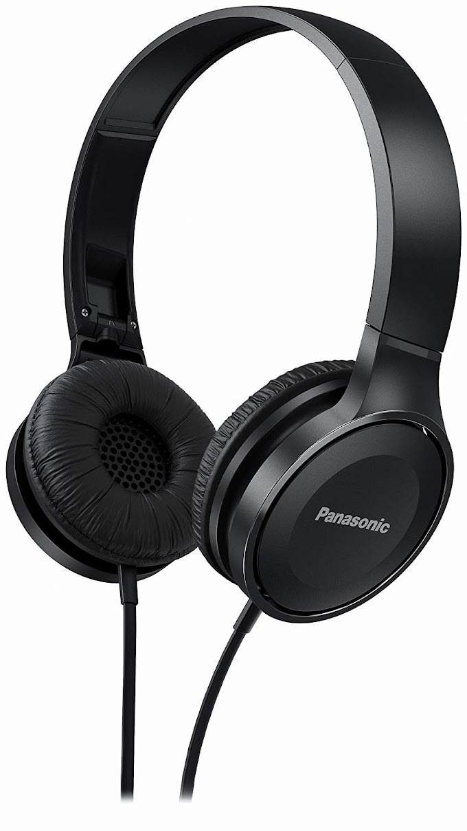 Rs,499/- Panasonic On Ear Stereo Headphones RP-HF100ME-K with Integrated Mic and Controller, Travel-Fold Design, Matte Finish, Black