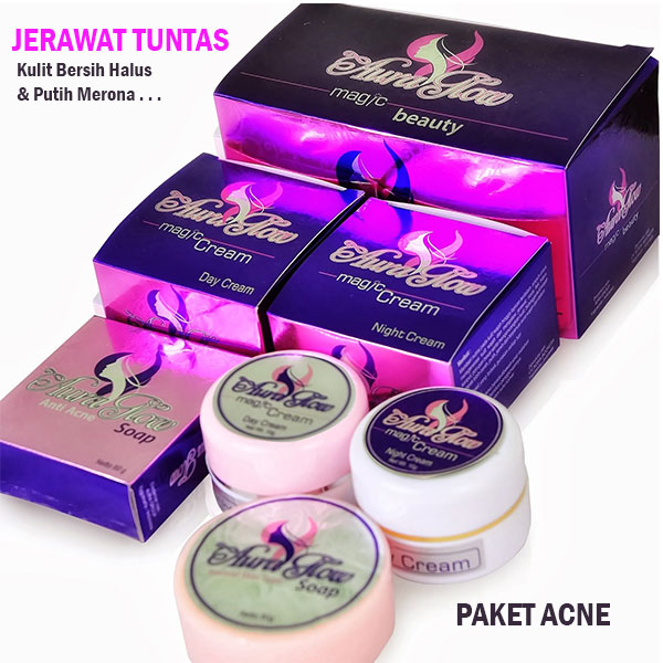 Aura Glow Magic Cream Paket Acne