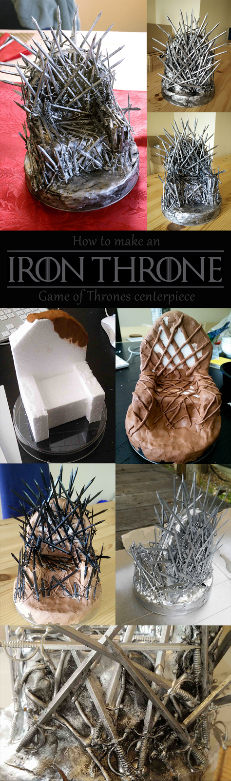 step-by-step instructions for crafting your own iron throne from cocktail swords