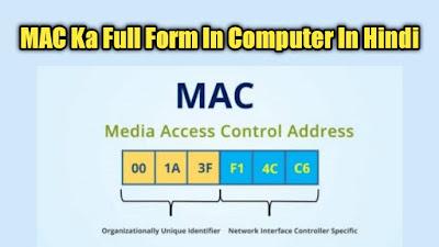 MAC Full Form In Computer In Hindi क्या होता है?