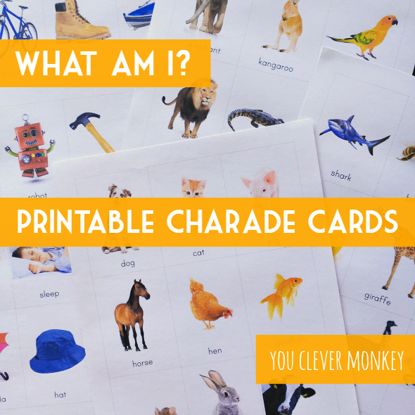 Photo Charade Cards - ready to print for use as a whole class game or a literacy centre activity | you clever monkey