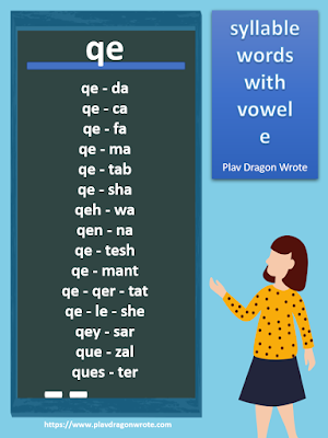 Syllable Words with the Small Vowel Letter e - Effective Reading Guide for Kids