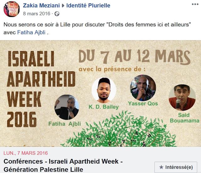 Zakia Meziani instrumentalise le féminisme pour sa lutte palestinienne