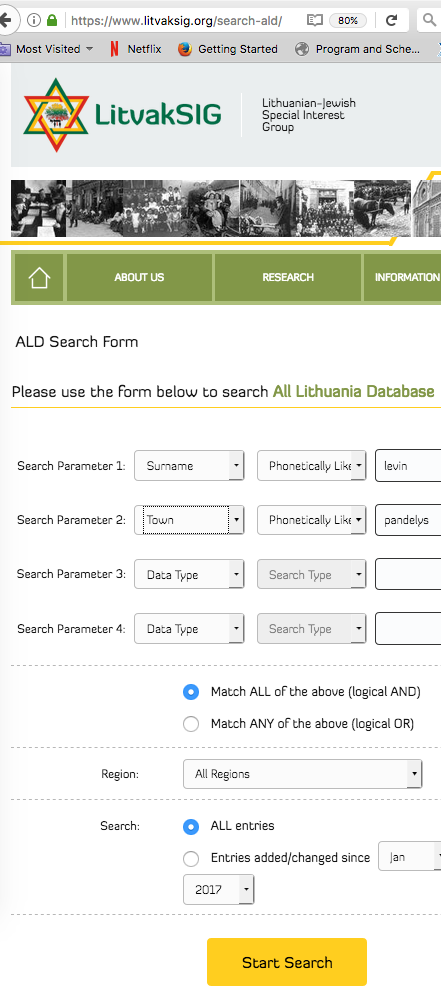 going) The Extra Yad: FamilySearch, JewishGen and Litvak SIG