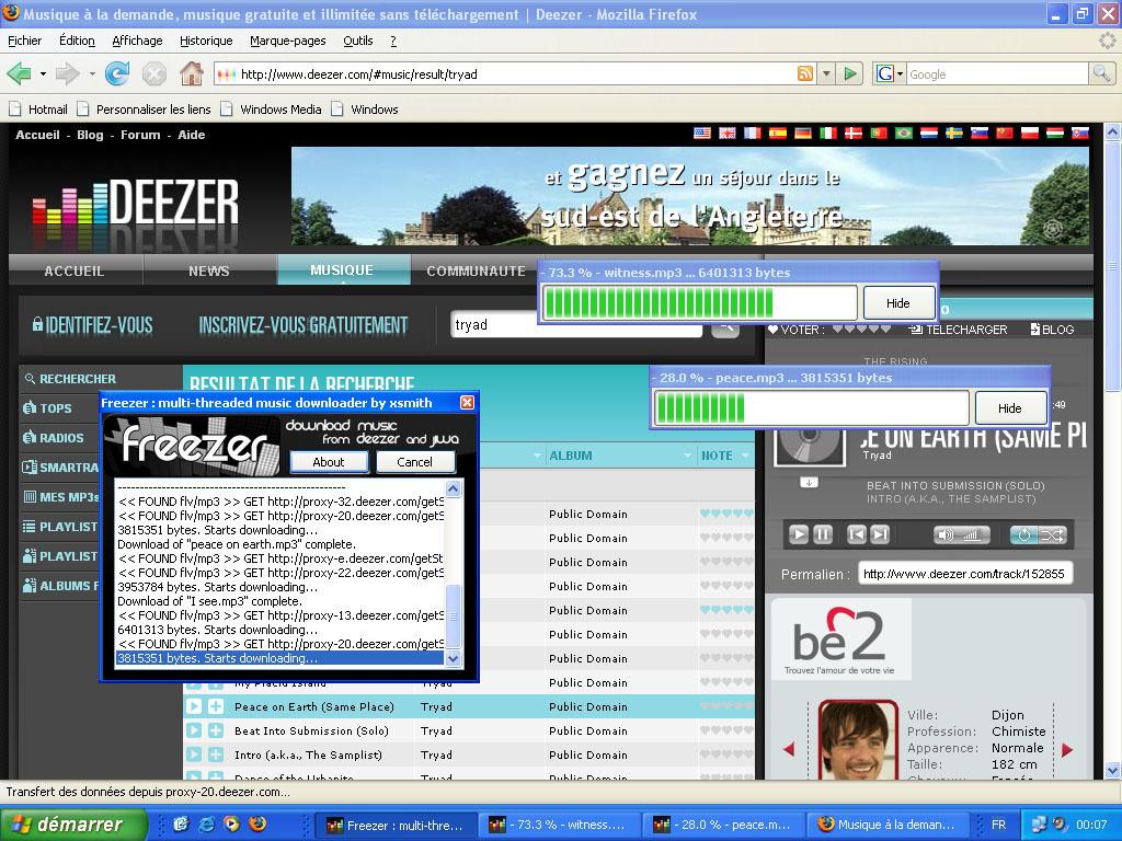 musica da deezer freezer
