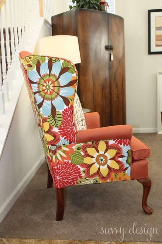* Remodelaholic *: Wingback Chair Reupholstering Tutorial