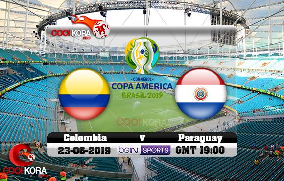مشاهدة مباراة كولومبيا وباراجواي اليوم 22-6-2019 علي بي أن ماكس كوبا أمريكا 2019