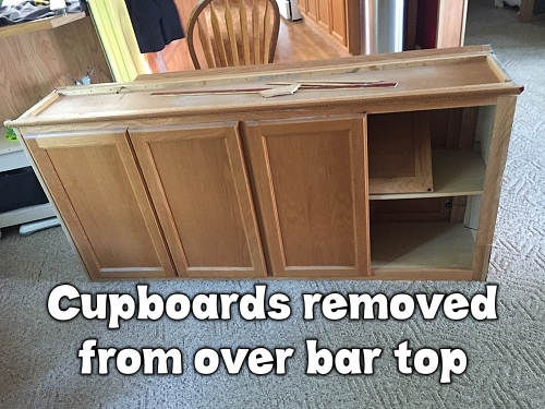 Cupboards removed