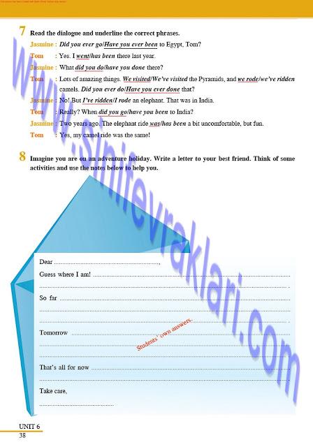 8. Sınıf Tutku Yayınları İngilizce Çalışma Kitabı Cevapları Sayfa 38