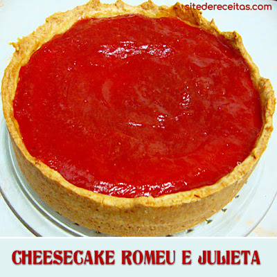 Cheesecake Romeu e Julieta