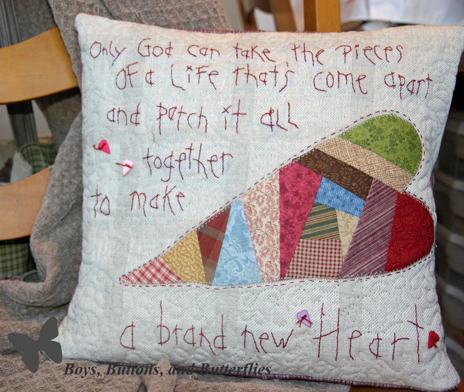 Buttons and Butterflies: February 2011 - Words And Quotes Pillow Designs