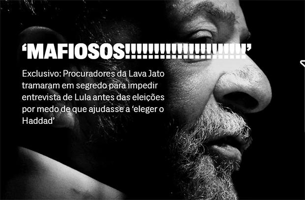 Em chats privados, procuradores reagiram indignados ao saber que ex-presidente falaria à Folha e celebraram quando ação do Partido Novo impediu a entrevista.