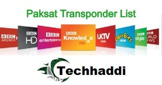 Pakset Latest Transponder list Updated 2020 -Techhaddi