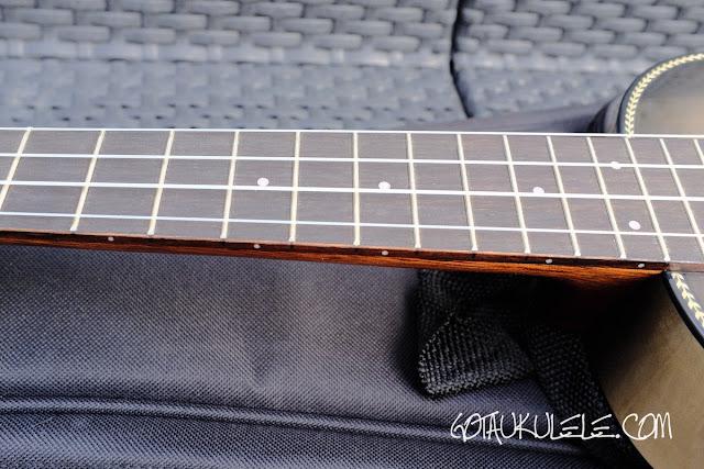 Breedlove Lu'au Ukulele fingerboard
