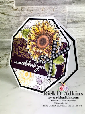 I have a fun Fall themed Hexagon Card using the Celebrate Sunflowers Stamp Set from Stampin' Up! to share with you today.