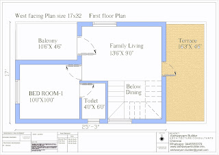 west facing duplex house plan