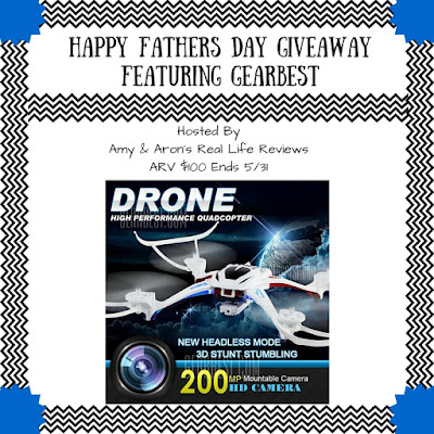 Enter the GearBest Father's Day Drone Giveaway. Ends 5/31