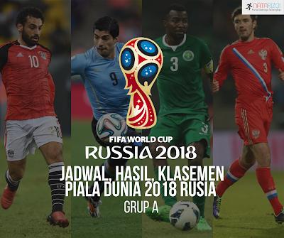 Jadwal, Hasil, Klasemen Piala Dunia 2018 Grup A
