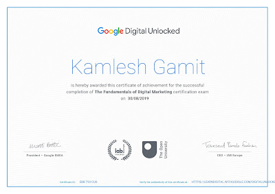 Free online digital marketing courses with certificates by google hindidroidblog kamlesh gamit