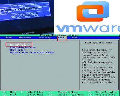 كيفية اظهار خيارات الإقلاع والبايوس BIOS في برنامج  VMware