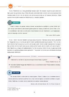 6. Sınıf Kuranı Kerim Ders Kitabı Cevapları Dikey Yayınları Sayfa 12
