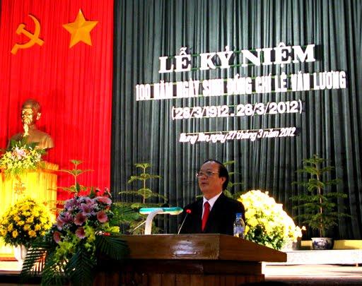 Đồng chí Đỗ Ngọc Linh đại diện Huyện ủy Văn Giang phát biểu tại lễ kỷ niệm