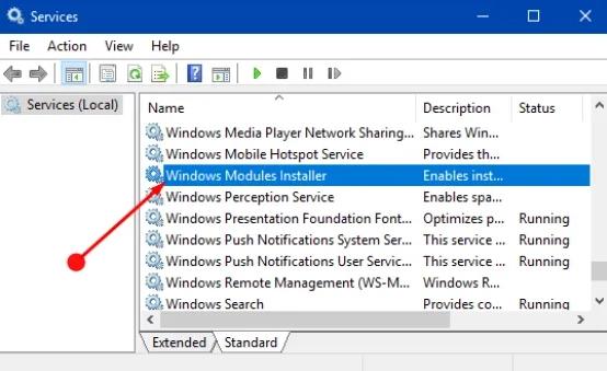 Windows Modules Installer Worker High CPU