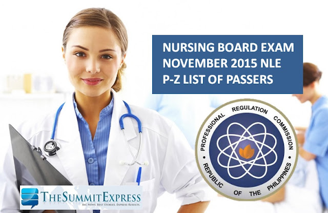 November 2015 Nursing board exam NLE Results out