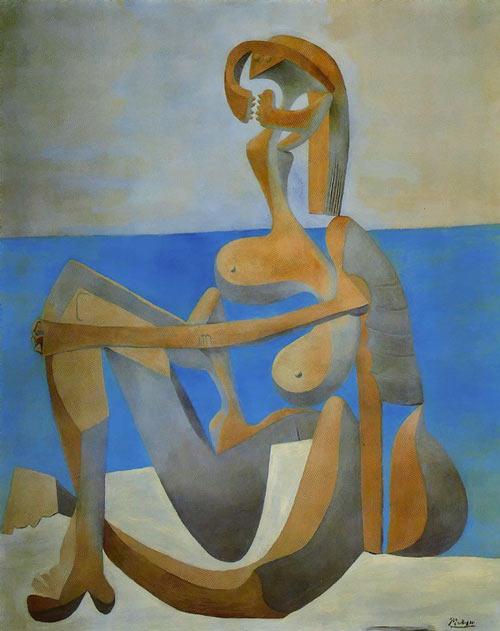 Pinturas Surrealistas Cubistas Simbolistas Y Expresionistas Bañista Sentada Pablo Picasso