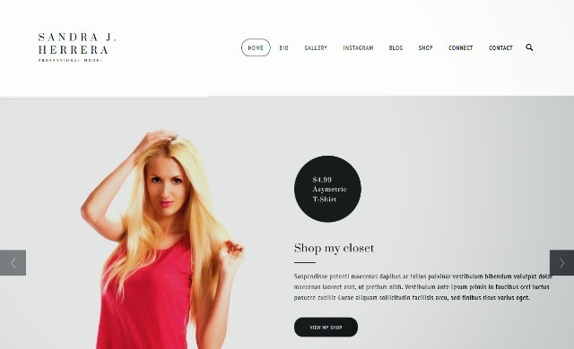 Modish - Fashion Model Website and Portfolio Template