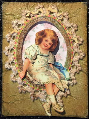 Vintage girl ATC (Artist Trading Card)