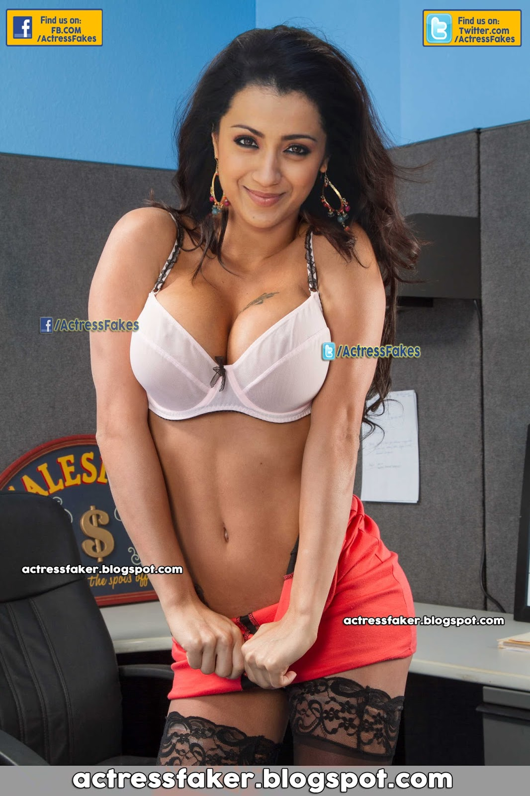 trisha hot fake
