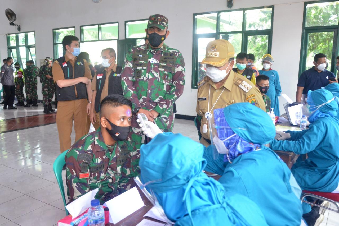 Ratusan Prajurit Kodim 0608 Cianjur Disuntik Vaksin Covid-19